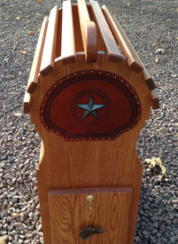 photo of space saver stand with cast iron star concho